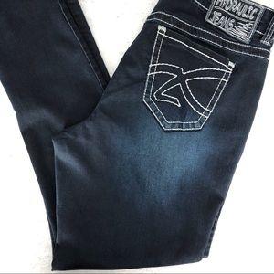 Hydraulic dark wash skinny jeans. Size 18